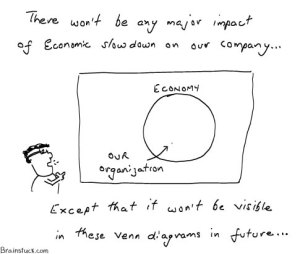 Impact of economic slowdown to a smaller organization, Cartoons, Business,