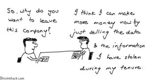 Exit Interview - Why do you want to leave this company - Data Theft, Employee thefts, Cartoons