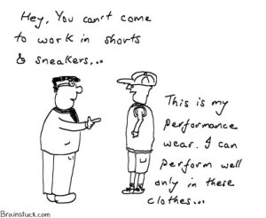 Performance Wear - Work/Office cartoons