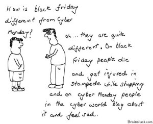 black-friday-vs-cyber-monday Discount shopping and stampede
