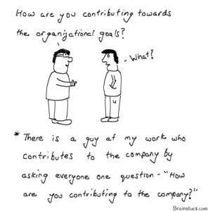 How are you contributing to the company and organizational goals, Management, Cartoons