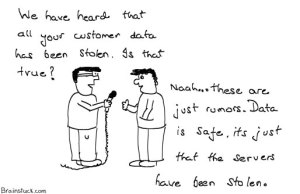 Customer data is safe and encrypted on our servers, its not stolen - Cartoons