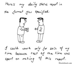 Daily Status report - What work do you do in how much time