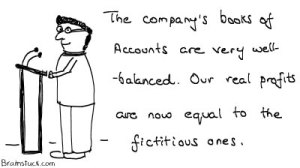 Well Balanced books of accounts with equal amount of real and fictitious figures