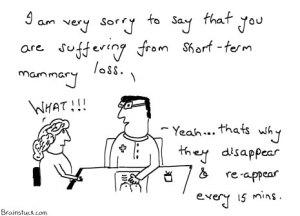 Short term mammary loss