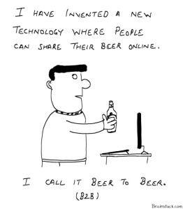 A new technology to share your beer online. Peer to Peer, P2P