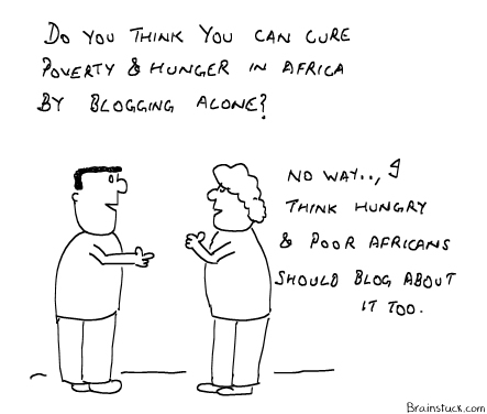 Cure Poverty and Hunger by blogging, Africa,World