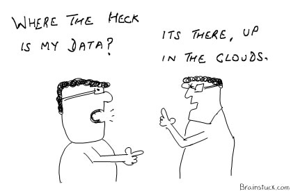 Cloud Computing and Storage - where is my data, Cartoons