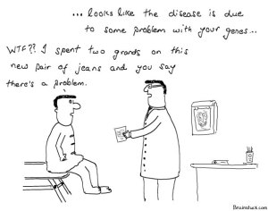 Genetic Disorder, Cartoons, Health, Pair of Jeans.