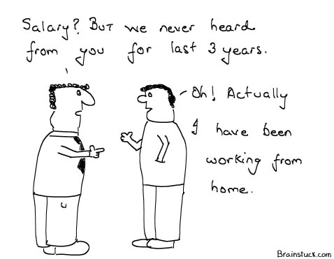 Working from Home, Job, Work, Office Cartoons