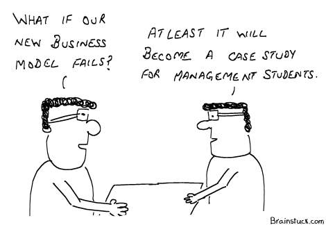 A Case Study for Management Students, Cartoons, Business Cartoons,