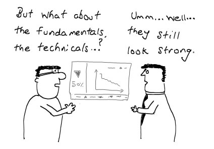Stock Market's Fundamentals and Technicals - Manipulations, Stock Brokers, Money Cartoons