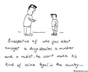 Politics, Criminals in Politics, Scandals, Crime, Cartoons