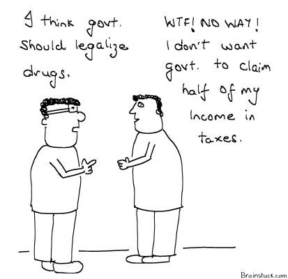 Legalize Marijuana, Drugs, Illegal Drug Trade, Insane Cartoon