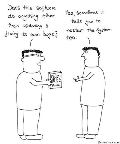 Windows Updates, Software Updates, OS, Bugs, Technology cartoons