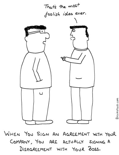 Employee Contract - Agreement, Office, Work, Management Cartoons