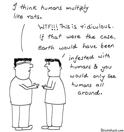 Humans Multiply like Rats, Cartoons, Insane, Over-Population, Infestation