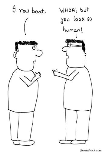 ROBOT, ROW BOAT, Foolish and Insane cartoon