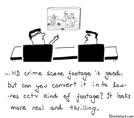 Reality TV, CCTV, High Definition Footage, Crime Scene, News Channels.