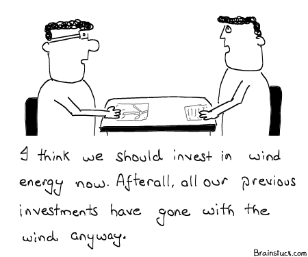 Wind Energy, Gone with the Wind, Return on Investment ROI, Money, Profits, Stock Markets