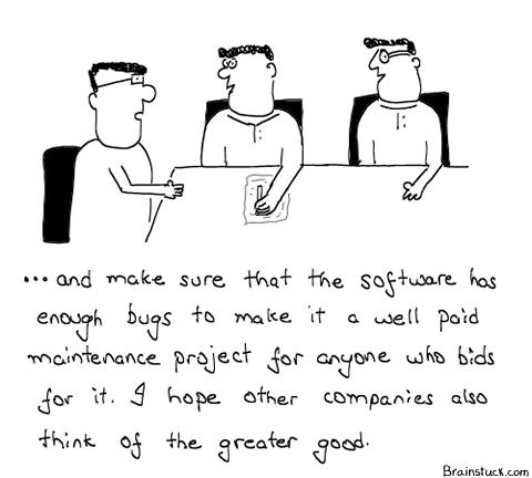 Software, Bugs, Maintenance Projects, Bids, Re-bids, Bubble, Recession, Money, Business