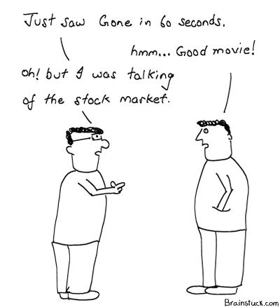 Stock Market, Market Crash, The Movie, Gone in 60 seconds, Investments, Money, Losses, Bubble Burst, Economy, Finance, Recession