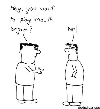 Mouth Organ, Flute, Bagpiper,  HAHA, Funny, Insane,buccal coitus, Cartoons