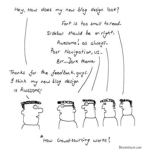 Crowdsourcing, Twitter, Microblogging, Crowd sourcing comic, cartoons, Awesome, feedback