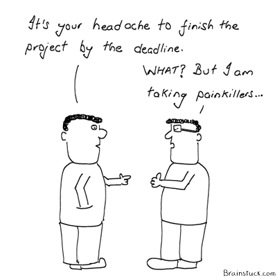 Headache, Indian English, Cliche, Project Managers, Office Jargon, Management, Humor, Comics, Cubicle, Employees, Work , Office
