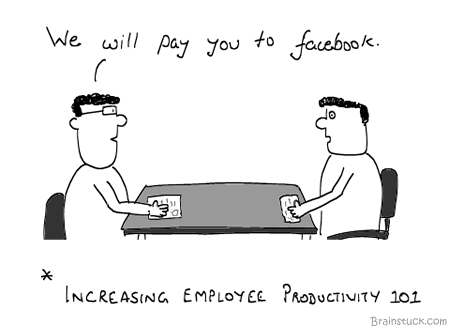 Time, Productivity, Social networking, Employees, Motivation, Reverse Psychology, Employer, Interview, Pay, Salary, Incentives, Bonus, Facebook, Twitter, Linkedin, Work for free, Pay per tweet