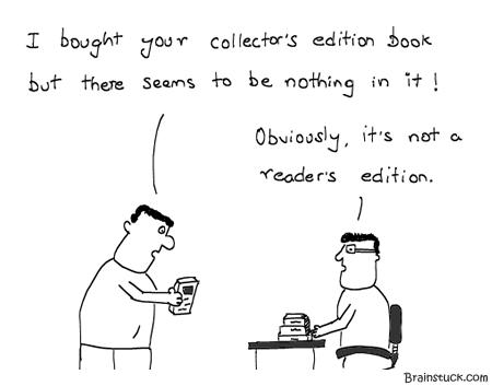 Collector's edition, Reader's edition, Box set, Authors, Books, DVDs, Music Compilation, Bullshit, Marketing, Sales,