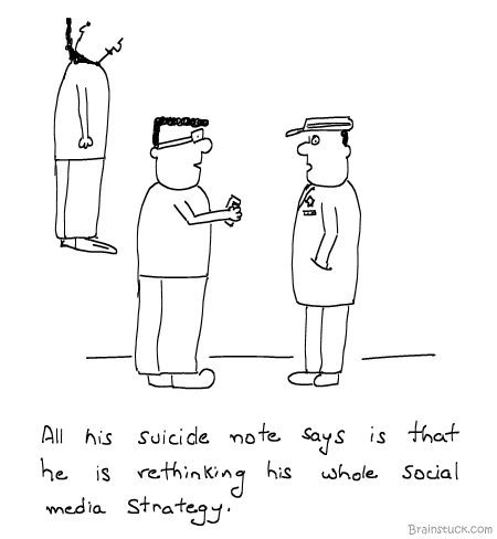 Social Media Strategy, Facebook, Twitter, Quitter, Quit, Felo De Se 2, Death, Orkut, Interaction, People, Murder