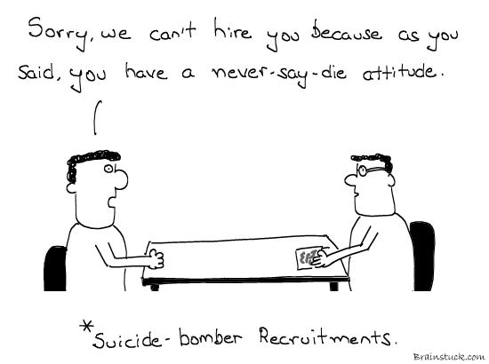 Suicide Bomber Recruitments, Recruits, Terrorism, Al qaeda, Plot, conspiracy, walk in interviews, Comics, cartoons, graphic, ltte,